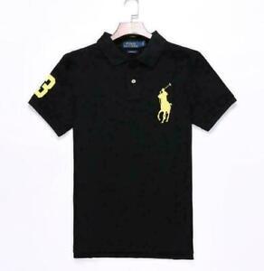 Männer Ralphlauren T-Shirt-Polo-Shirt Kurzarm Top Freizeithemd