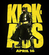 """KICK-ASS"" Movie Men's Size XL Black Tee Superhero with NO SUPERPOWERS NEW"