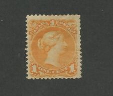 Queen Victoria 1868 Canada 1c Orange Stamp #23 Scott Value $1,750