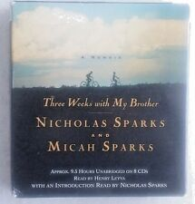 Three Weeks with My Brother by Micah Sparks and Nicholas Sparks (2004, CD, Unabr