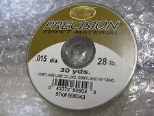 Cortland Precision Tippet Material Fly Line 28#, 30 Yds