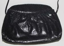 f7249158ce HALSTON black snakeskin 70 s shoulder bag clutch