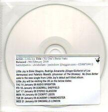 (39J) Little Joy, No One's Better Sake - DJ CD