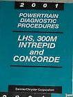 2001 CHRYSLER LHS CONCORDE DODGE 300M INTREPID POWERTRAIN DIAGNOSTIC Manual OEM