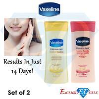 Set of 2 Vaseline Hand & Nail Cream 200ml & Essential Healing Lotion 200ml