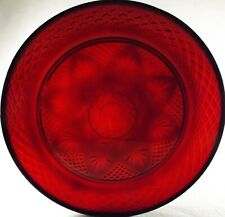 """Ruby Red Dinner Plate 8 Sided Star 10"""" Cristal D'Arques Durand -12 Available"""