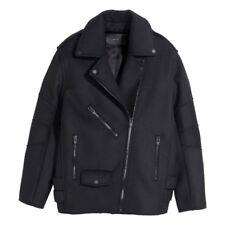 NWT Alexander Wang H&M Black Wool Motorcycle Jacket Coat sz 4