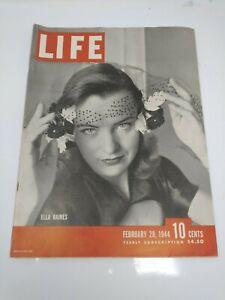 LIFE magazine February 28 1944 WWII Ella Raines World Battle Atlas Mexico