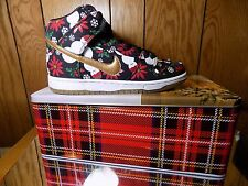 Nike SB DUNK HIGH PREMIUM UGLY CHRISTMAS SWEATER Size 9 BLACK 635525-006