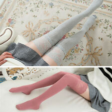 Women Girl Korean Style Over Knees Thigh High Long Stockings tights Socks