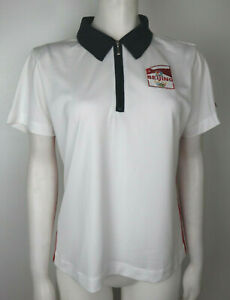 BEIJING 2008 OLYMPICS POLO SHIRT - NIKE GOLF - WOMEN'S SIZE M 8-10 - WHITE