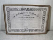 Vintage 1876 International Exhibition C.F. Martin Guitar Certificate Award Print