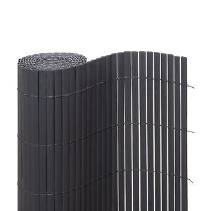 Sichtschutzmatte PVC Sichtschutzzaun Windschutz Grau VENTANARA