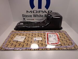 03-12 Dodge Ram Trucks New Engine Oil Pan & Gasket 5.9L 6.7L Diesel Mopar Oem