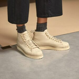 Adidas Superstar Boot Pale Nude Leather Shoes Women's Size 6 FZ3837 NWOB !