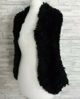 SOUTH Black Shrug Cardigan Soft Fluffy Knit One-Size Stretchy Open-Front VGC