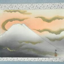 JAPANESE PAINTING HANGING SCROLL FROM JAPAN Mt. Fuji MOUNTAIN PRINT TAIKAN 225p