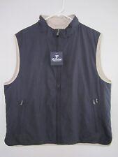 F. Faconnable Men's Reversible Gilet Blue & Beige Vest Size XL NWT
