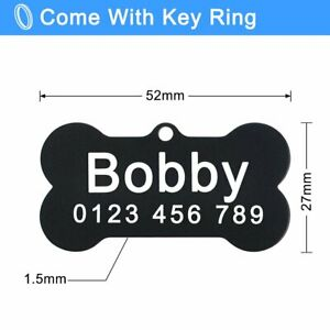 Personalized Dog Tags Free Engraved Double Sided Pet Puppy Name Number Address