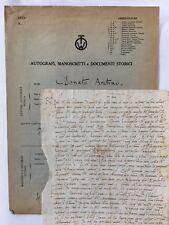 Rome 1499 Donato Aretino Autograph Letter Fine Cursive Italian