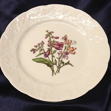 "LIERRE SAUVAGE CNP WILDFLOWERS OF FRANCE SALAD PLATE 8"" EMBOSSED GRAPES RIM F"