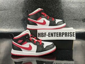 Nike Air Jordan 1 TD Mid Very Berry Black Red White Toddler Size 9c NIB