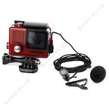 Red Skeleton Housing FPV Protective Case + Mic Kit for GoPro Hero 4 3+ 3 Camera