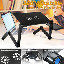 360° Adjustable Foldable Laptop Notebook PC Desk Table Stand Portable Bed