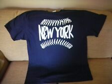 New York Baseball T Shirt   Navy  XL    (New)