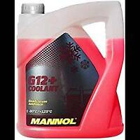 5 Litre Mannol Antifreeze Anti-freeze Af 12+ Antifreeze -30°C Red Pink