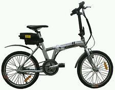 EBIC H520SILVER MID-DRIVE ELECTRIC FOLDING BICYCLE(PEDAL ASSIST & FULL THROTTLE)