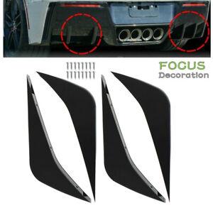 For 2014-2019 Chevrolet Corvette C7 Rear Bumper Lower Air Diffuser Fin Body Kit