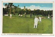1932 FL Postcard Davenport Florida Holly Hill Golf Course Putting Second Green