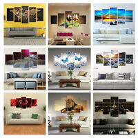 5Pc Modern Abstract Huge Wall Home Decor Art Oil Painting On Canvas (No Framed)