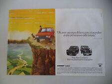 advertising Pubblicità 1981 RANGE ROVER e LAND ROVER