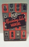 RCA Receiving Tube Manual Tech Series RC-14 Photo TV Radio Amplifier Tubes Test