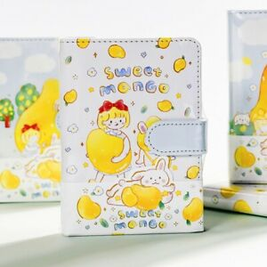 """""""Sweet Mango"""" Faux Leather Cute Notebook Student Children Girls Diary Journal"""