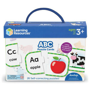 Learning Resources ABC Puzzle Cards Match Handle 26 Piece Ages 3+