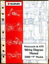 "Suzuki Service Manual Motorcycle & Atv Wiring Diagram 2000 ""Y"" Models Like New"