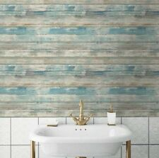Blue Distressed Wood Peel & Stick Wallpaper Wall Decal Sticker Free Shipping