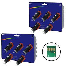 10 Negro Compatible Impresora Cartuchos De Tinta Para Canon Pixma ip7250 Impresora [ 551 ]