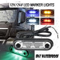 12/24V FLUSH FIT LED SIDE MARKER LIGHT LAMPS For KELSA BAR TRUCK TRAILER  √ !*