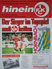 Programm 1994/95 1. FC Kaiserslautern - Borussia Dortmund
