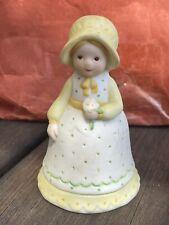 Vintage 1980s Holly Hobbie - A Mother's Keepsake Bisque Figural Bell Limited Ed.