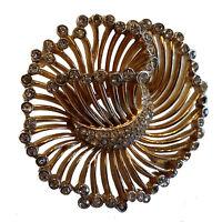 Vintage Trifari Rhinestone Swirl Spray Brooch Pin