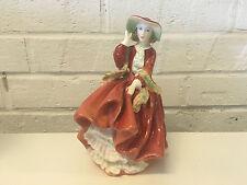 Vintage Royal Doulton Porcelain Figurine Top o' The Hill Hn 1834 Tk Red Dress