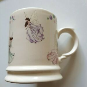 1 Vintage Holkham Porcelain Pottery Small Tankard Style Mug Depicting Fairies