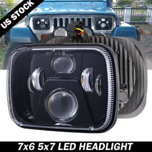 7x6 Black LED Headlight for Chevrolet Express 1500 2500 3500 Cargo Van G10 G20