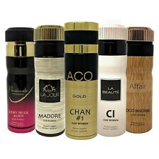 Deodorant Body Spray for Women Elegant Scent Body Mist Fragrance - 5 Pack