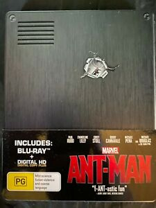 Ant Man - Steelbook - Blu Ray - Paul Rudd - Marvel - MCU - Free Postage -Used